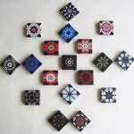 'Mariage-Mandala' (2009) textile mosaic