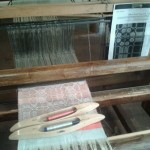 Weaving silk in Torre Guinigi